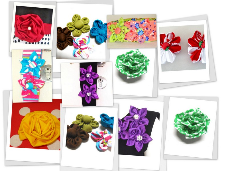 Fabric Flowers Pattern Fabric Flower Tutorial Bundle