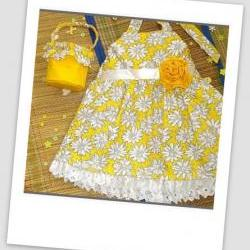 Easy Sundress with Flower Basket, For Beginner, Sewing Pattern Pdf
